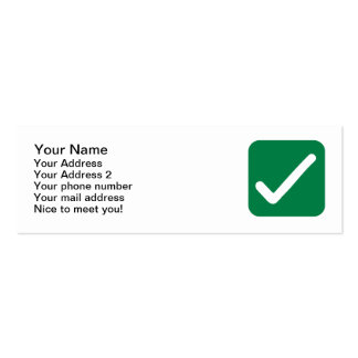 Check mark Double-Sided mini business cards (Pack of 20)