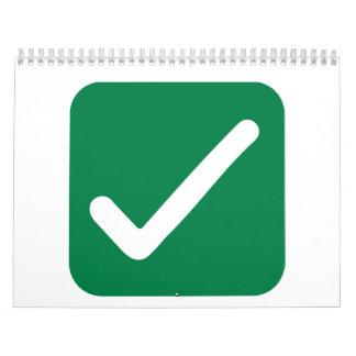 Check mark calendar