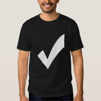 check mark with particle edge t-shirts
