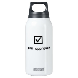 Check marked mom approved image insulated water bottle