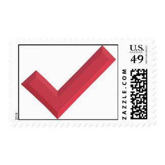 Check-marks make me happy! postage