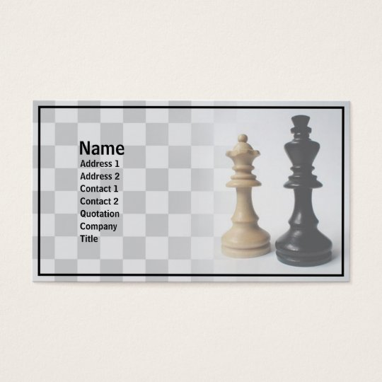 Check Mate Business Card