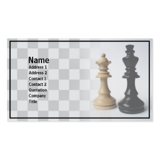 Check Mate Double-Sided Standard Business Cards (Pack Of 100)