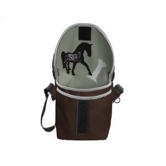 Check-Mate Horse Mini Messenger Bag Inside Print