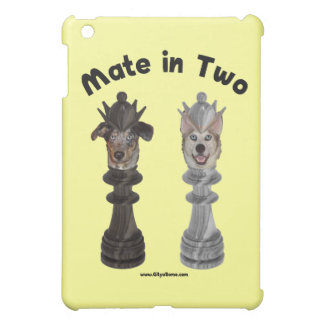 Check Mate in Two Dogs Case For The iPad Mini