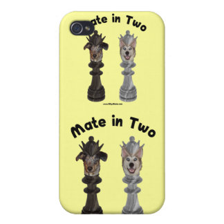Check Mate in Two Dogs iPhone 4/4S Covers