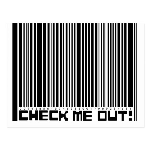 Check Me Out Barcode Postcards
