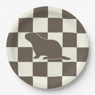 Check Me Out Groundhog Day Party Paper Plate
