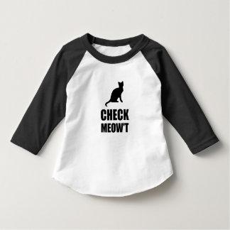 Check Meow Cat T-Shirt