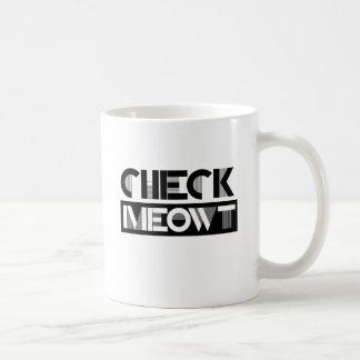CHECK MEOWT - - Cat Humor Classic White Coffee Mug