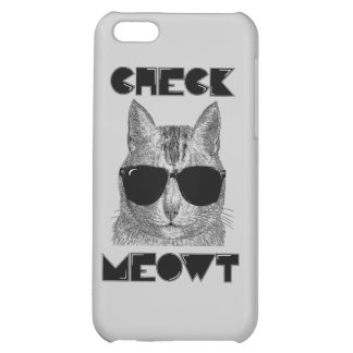 Check Meowt -- Cat Humor iPhone 5C Cover