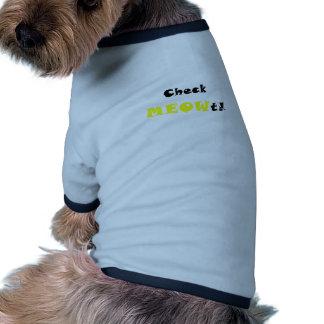 Check Meowt Dog Clothing
