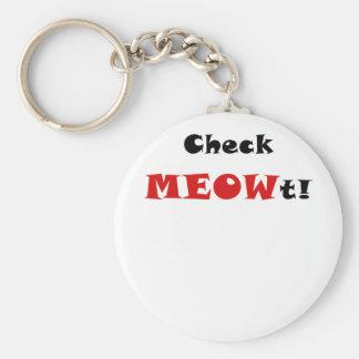 Check Meowt Keychain