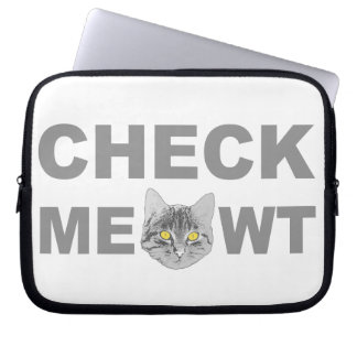 Check Meowt Laptop Sleeve