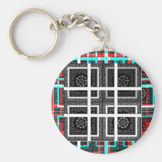 Check my Squares Curves.png Basic Round Button Keychain