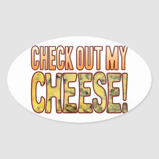 Check Out Blue Cheese Oval Sticker