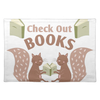 Check Out Books Cloth Placemat