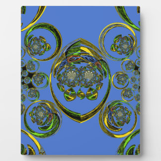Check out my blue curves plaque