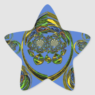 Check out my blue curves star sticker