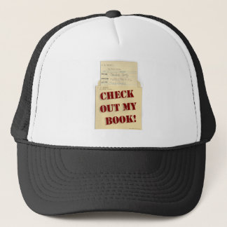 Check Out My Book Author Logo Trucker Hat