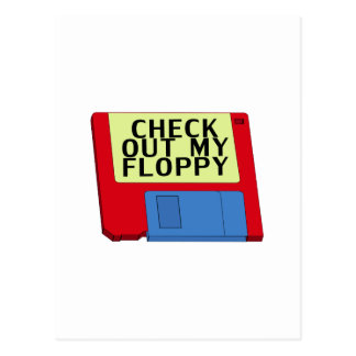 Check Out My Floppy Postcard