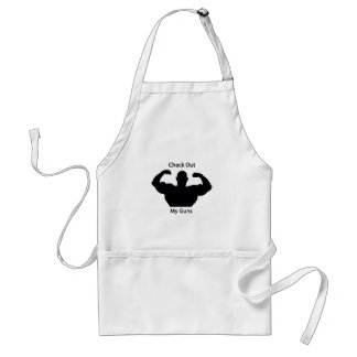 Check out my guns adult apron