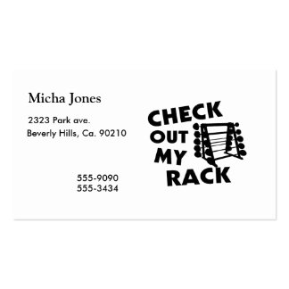 Check Out My Rack Double-Sided Standard Business Cards (Pack Of 100)