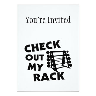 """Check Out My Rack 5"""" X 7"""" Invitation Card"""