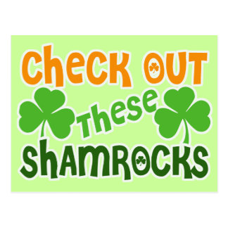 Check Out THESE Shamrocks Postcard