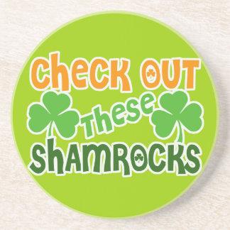 Check Out THESE Shamrocks Sandstone Coaster