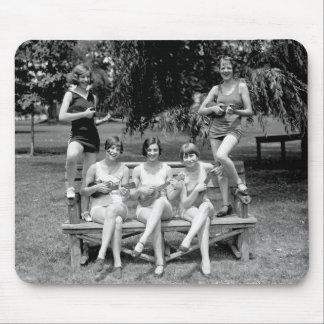 Check Out Those Ukuleles! - 1920s Mousepad