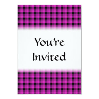 Check Pattern. Bright Pink and Black. Card