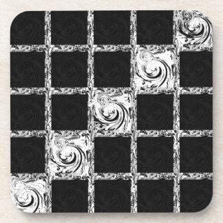 check pattern coaster
