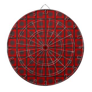 Check pattern dartboard with darts