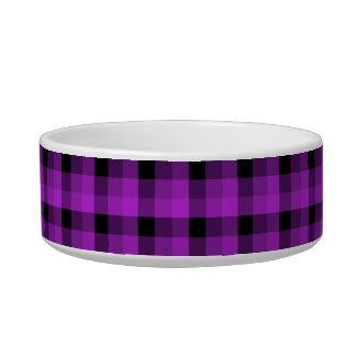 Check Pattern. Purple and Black. Bowl