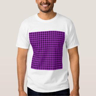Check Pattern. Purple and Black. T Shirt