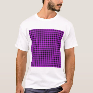 Check Pattern. Purple and Black. T-Shirt