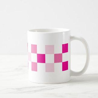 check-pink coffee mug