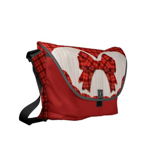 Check_ribbon (red) courier bag