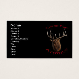 Check That Attitude Business Card