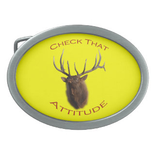 Check That Attitude Oval Belt Buckle