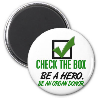 Check The Box Be An Organ Donor 1 Fridge Magnets