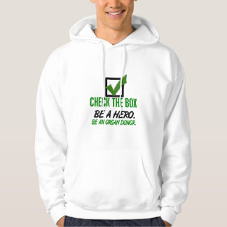 Check The Box Be An Organ Donor 1 Hooded Pullover