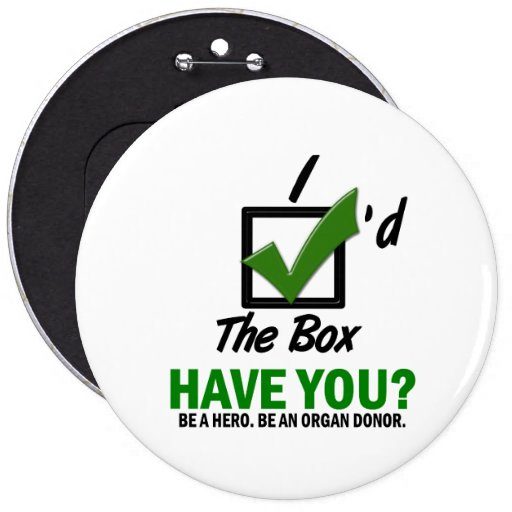 Check The Box Be An Organ Donor 2 Buttons