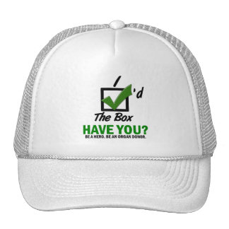 Check The Box Be An Organ Donor 2 Trucker Hat