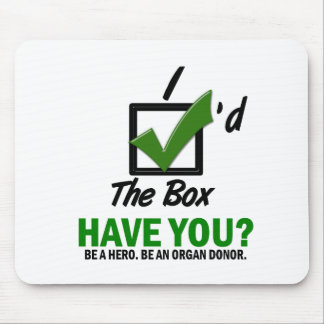 Check The Box Be An Organ Donor 2 Mouse Pad