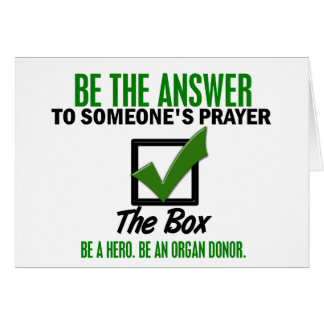 Check The Box Be An Organ Donor 3 Cards
