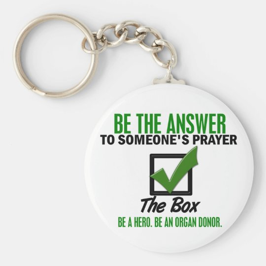 Check The Box Be An Organ Donor 3 Keychain