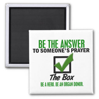 Check The Box Be An Organ Donor 3 Refrigerator Magnet