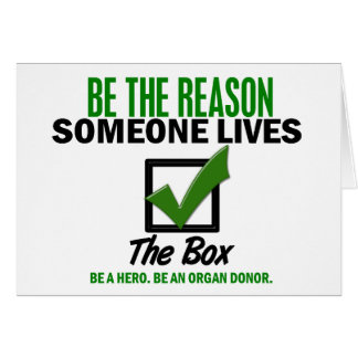 Check The Box Be An Organ Donor 4 Cards